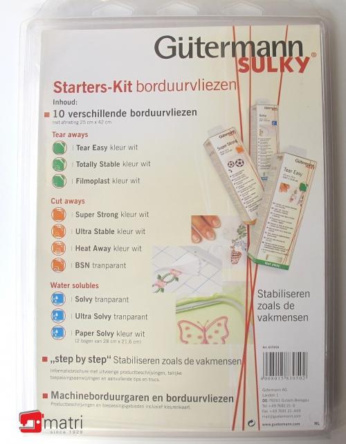 Vlieseline Starters-kit borduurvliezen Gϋtermann Sulky
