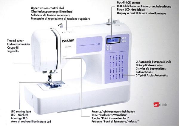 brother fs 20 elektronische naaimachine matri naaimachines. Black Bedroom Furniture Sets. Home Design Ideas