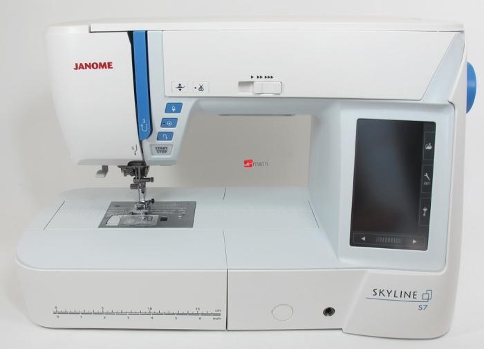Janome skyline s7 creatieve naaimachine matri naaimachines for Machine a coudre klein