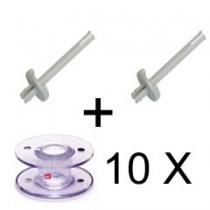 2 X Garenstandaard met 10 spoeltjes