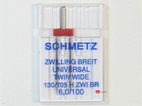 Schmetz Tweelingnaald 6 / 100